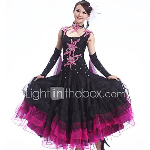 tenue noire bleu rouge elasthanne cr pe danse moderne spectacle danse de salon danse. Black Bedroom Furniture Sets. Home Design Ideas
