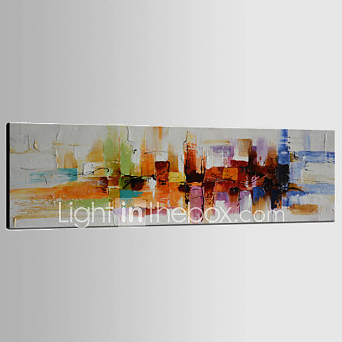 Hand-Painted Abstract Horizontal PanoramicClassic Modern Traditional One Panel Canvas Oil Painting For Home Decoration