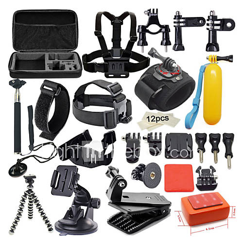 42 in 1 outdoor sports accessories kit for gopro hero 5. Black Bedroom Furniture Sets. Home Design Ideas