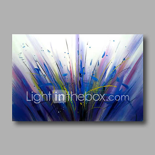 Hand-Painted Abstract Modern Oil Painting Canvas Deco Art Blue Color Home Deco one Panel