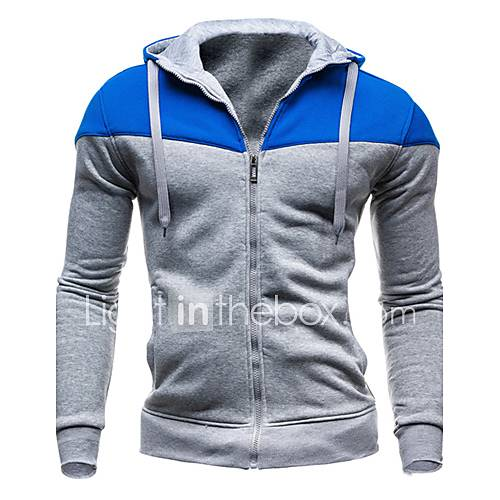 Men's Long Sleeve Hoodie  Sweatshirt  Cotton Blend Pure