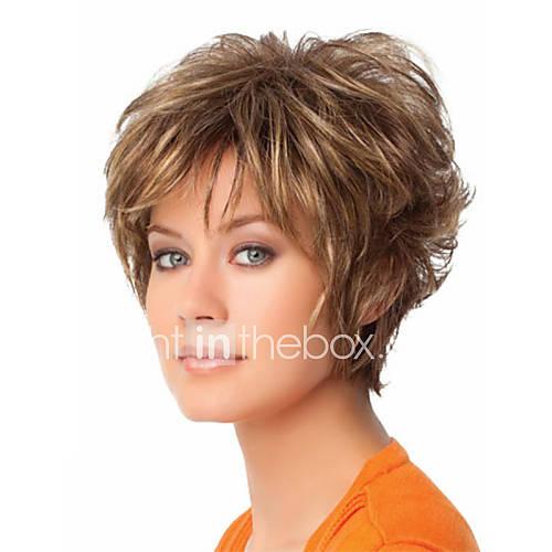 diariamente adorável peruca loira syntheic extensões peruca syntheic curtas das mulheres