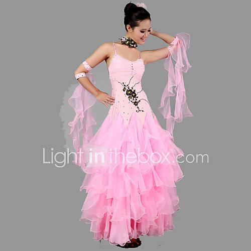 tenue rose elasthanne cr pe danse moderne spectacle danse de salon danse moderne spectacle danse. Black Bedroom Furniture Sets. Home Design Ideas