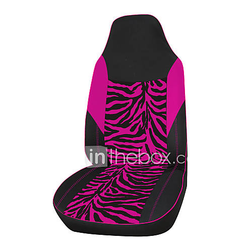 AUTOYOUTH Velour Fabric Pink Zebra Car Seat Cover Fit Most