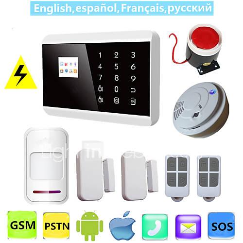 ios-app-lcd-toque-inteligente-gsm-pstn-sms-sistema-sem-fio-com-fio-de-voz-de-seguranca-em-casa-de-alarme-com-detector-de-fumaca