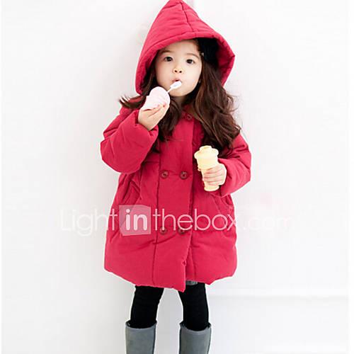 veste manteau fille de hiver automne m lange de coton rouge de 4418208 2016. Black Bedroom Furniture Sets. Home Design Ideas