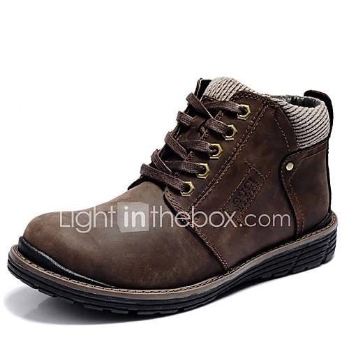 Zapatos de hombre botas oficina y trabajo casual cuero - Botas de trabajo ...