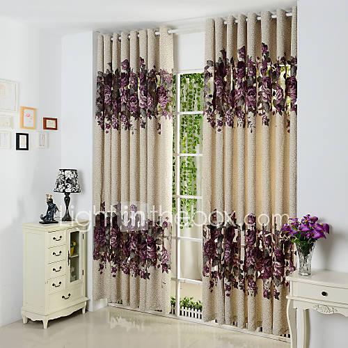 dois-paineis-roxos-florais-poliester-botanico-cortinas-cortinas-de-painel