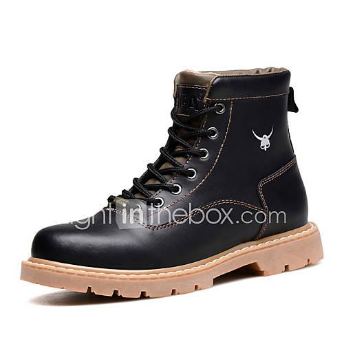 chaussures hommes bureau travail d contract noir marron cuir bottes de 4518243 2016. Black Bedroom Furniture Sets. Home Design Ideas