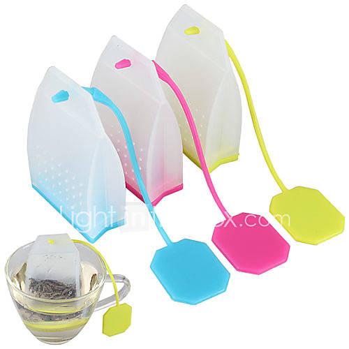 Difusor de silicón del estilo bolsa de té colador especias hierbas filtro infusor (color al azar) Descuento en Lightinthebox