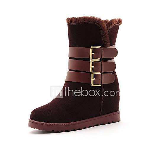 Zapatos de mujer tac n plano botas de nieve botas a - Botas de trabajo ...