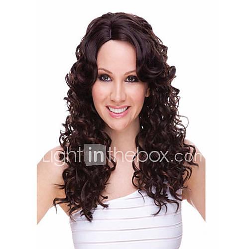 encantador venda peruca curl para eurepean syntheic perucas de cabelo extesions populares
