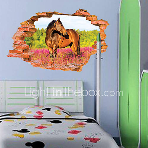 3d sticker wall horsestickers for dining room kid room for 3d dining room wall art