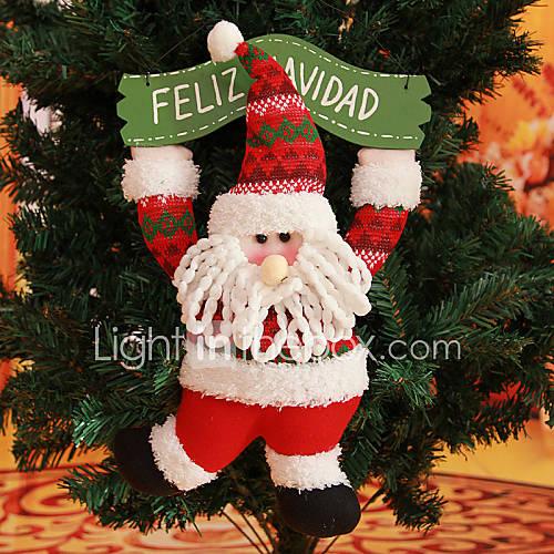 15 7 espagnol citant feliz navidad joyeuse guirlande de no l le p re no l suspendus arbre de. Black Bedroom Furniture Sets. Home Design Ideas