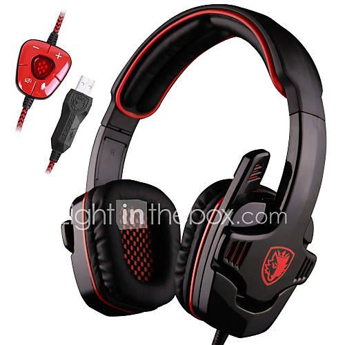 juego de auriculares estéreo envolvente 7.1 auriculares para juegos Pro USB con micrófono auricular de la venda Descuento en Lightinthebox
