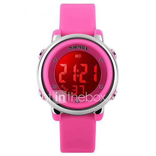 Niño Reloj Deportivo Digital LED / Termómetro / Calendario / Resistente al Agua / Dos Husos Horarios / alarma / Reloj Deportivo Caucho Descuento en Lightinthebox