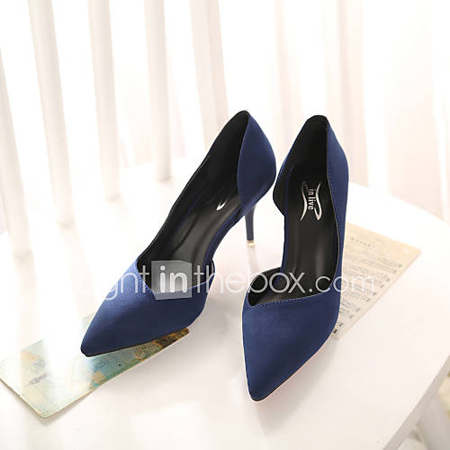 Suede kitten heel heels pointed toe closed toe heels dress black
