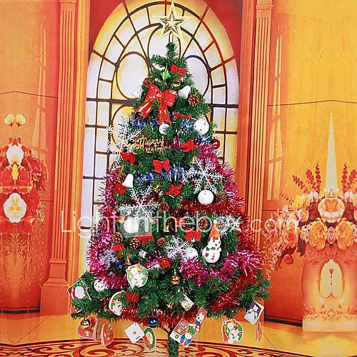 Luxurious Christmas Trees: 150CM 240 Branch Luxurious Christmas Trees(Include 114PCS