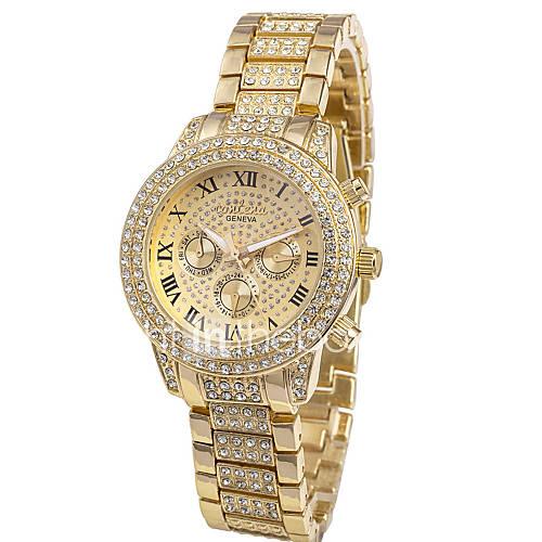 Mujer Reloj de Moda Cuarzo Cronógrafo Acero Inoxidable Banda Plata / Dorado / Oro Rosa Marca- Descuento en Lightinthebox