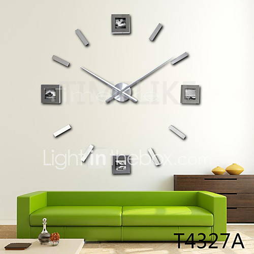 latest 3d fashion design large photo frame wall clock