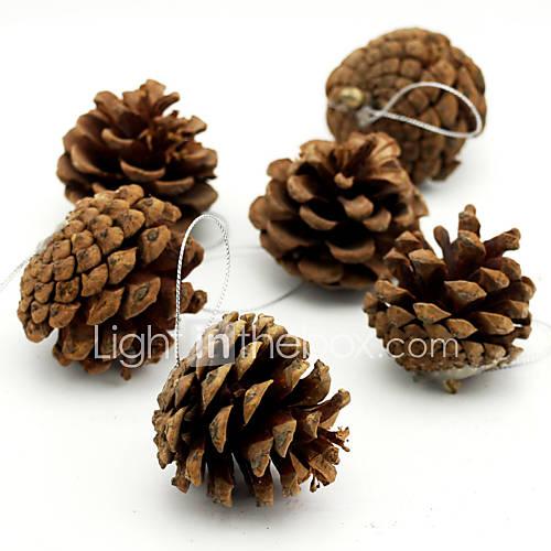 6 un paquete guirnalda decoraci n colgante de pi a de pino for Accesorios de decoracion