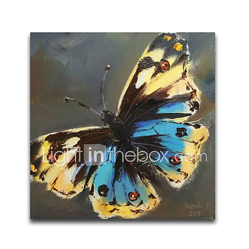 iartsblue-e-amarelo-dot-animais-borboleta-do-estilo-da-pintura-a-oleo-sobre-tela-3d