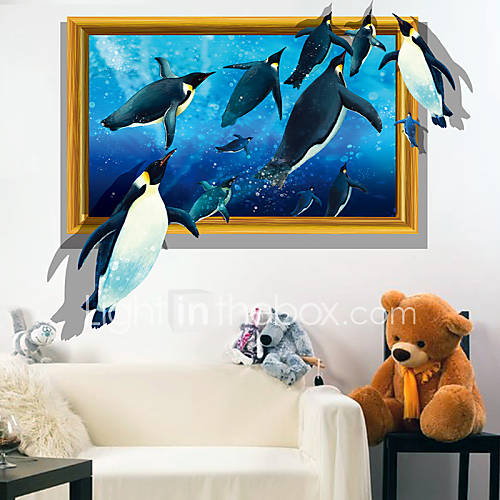 Animali 3d adesivi murali adesivi 3d da parete pvc 60 for Adesivi parete 3d