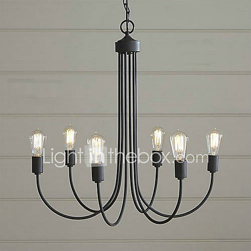 Painting Dining Room Chandelier: MAX:60W Chandelier , Country Painting Feature For Candle