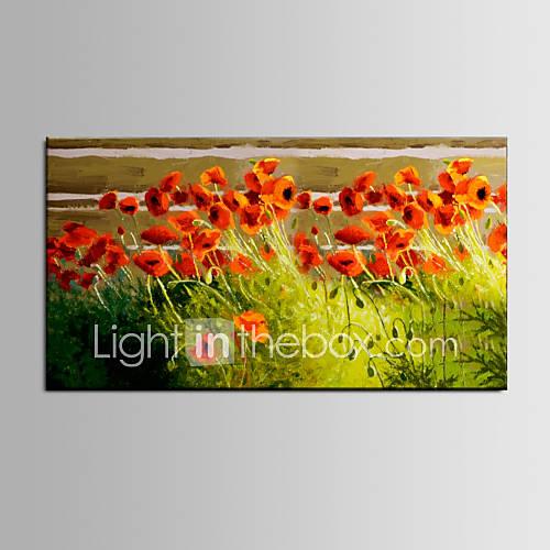 oleo-cor-iartsnice-flor-vermelha-paisagem-handmade-pintura-projetos-novos-para-casa-quente