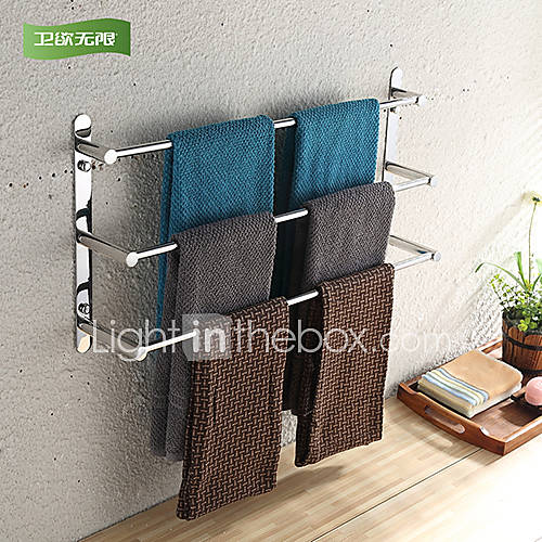 towel bar stainless steel wall mounted 40 11 5 32cm 15 7 4 5 stainless steel. Black Bedroom Furniture Sets. Home Design Ideas