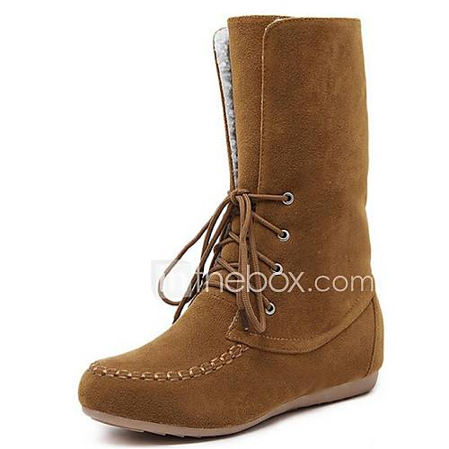s shoes fleece flat heel fashion boots boots office