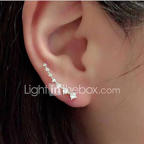 Pendiente Chapado en Plata Puños del oído Joyas 1 par Boda / Fiesta / Diario / Casual Legierung / Brillante Mujer / NiñasDorado / Descuento en Lightinthebox