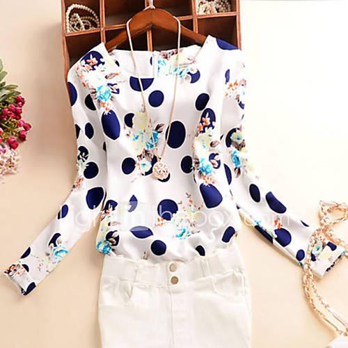vrouwen-eenvoudig-herfst-blouse-casual-dagelijks-print-ronde-hals-lange-mouw-blauw-wit-polyester-medium