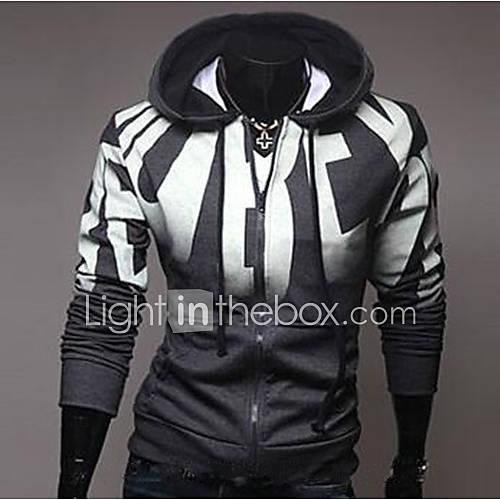 Men's Long Sleeve Hoodie  Sweatshirt  Cotton Print