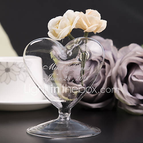 Personalized heart shaped vase
