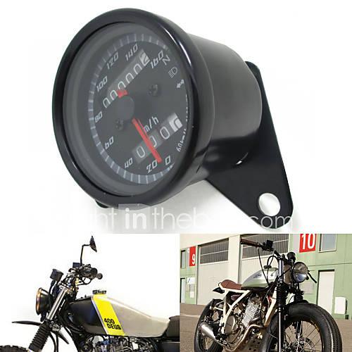 12v noir moto scooter compteur kilom trique jauge de 0 160km h en moto r tro m tre double. Black Bedroom Furniture Sets. Home Design Ideas