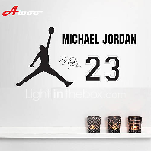 awoo 174 hand holding basketball michael jordan wall stickers air jordan wall sticker sports basketball logo vinyl decal
