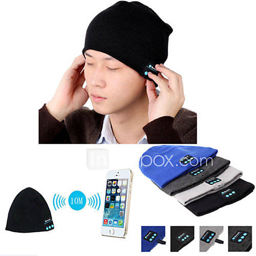 cálido gorro bluetooth inalámbrico cap inteligente micrófono altavoz auricular auriculares para el teléfono móvil sumsung iphone Descuento en Lightinthebox
