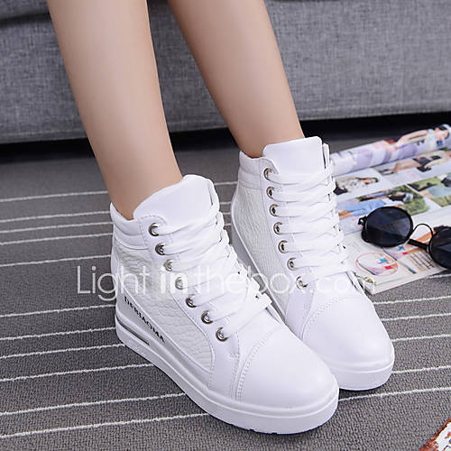 s shoes canvas wedge heel toe athletic shoes