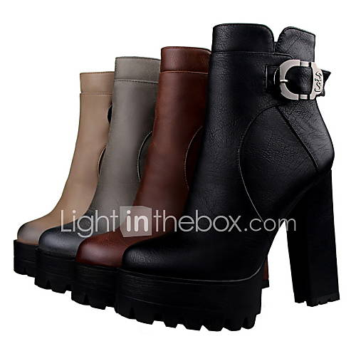 chaussures femme habill noir marron gris kaki gros talon a plateau bottine. Black Bedroom Furniture Sets. Home Design Ideas