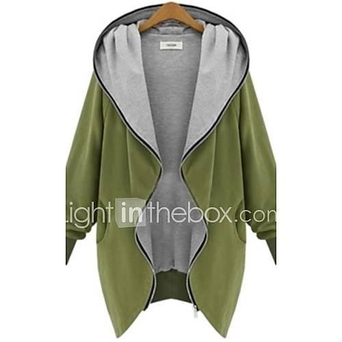 vrouwen-grote-maten-vintage-lente-herfst-winter-jas-mouwloos-zwart-groen-effen-medium-katoen