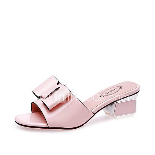 Zapatos de mujer tac n robusto punta abierta for Zapatos de trabajo blancos