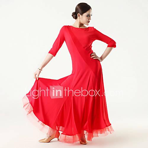 Vestidos(Negro / Morado / Rojo / Estampados de Leopardo,Tul / Viscosa,Danza Moderna) -Danza Moderna- paraMujer Leopardo Representación Descuento en Lightinthebox
