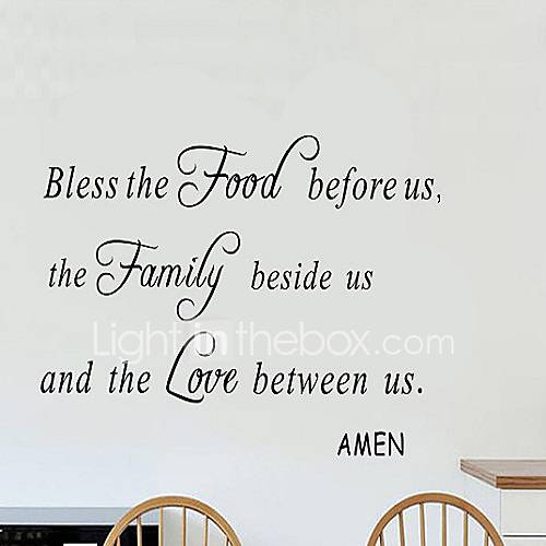Sweet Lovely Wall Stickers Wall Decals Decorative ...Quotes About Family English