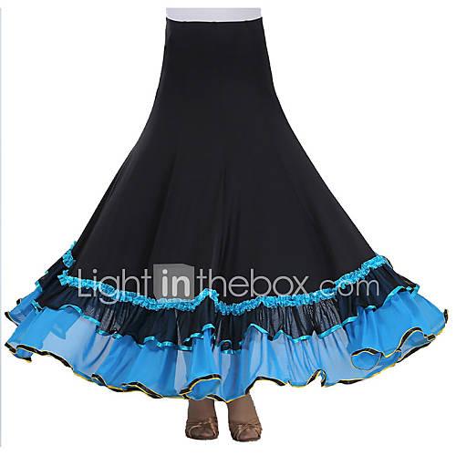 Tutús y Faldas(Negro Azul Fucsia Rojo Azul Rey,Crepe Fibra de Leche,Danza Moderna) -Danza Moderna- paraMujer Drapeado Representación Descuento en Lightinthebox