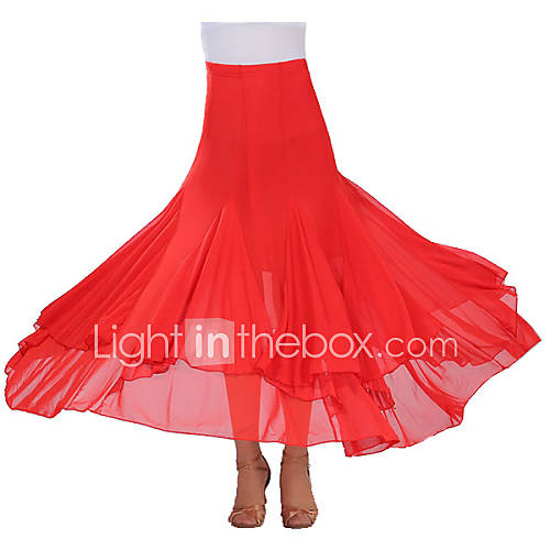 Tutús y Faldas(Negro / Morado / Rojo / Azul Rey,Crepe,Danza Moderna) -Danza Moderna- paraMujer Drapeado Representación Descuento en Lightinthebox