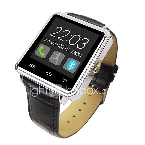 caso de cuero de la venda de metal reloj inteligente 1.44 ''TFT Bluetooth v4.0 con podómetros registro de sueño Descuento en Lightinthebox