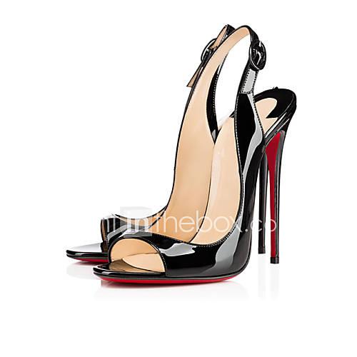 Zapatos de mujer - Tacón Stiletto - Tacones - Sandalias - Boda / Casual / Fiesta y Noche - Cuero Patentado - Negro Descuento en Lightinthebox