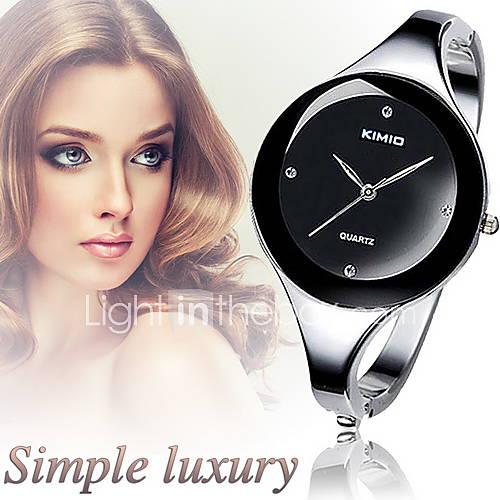 Mujer Reloj de Moda / Reloj de Pulsera Cuarzo La imitación de diamante Aleación Banda Brazalete Plata Marca Descuento en Lightinthebox