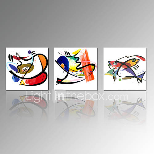 Visual star abstract canvas print 3 panels kitchen wall for Abstract decoration